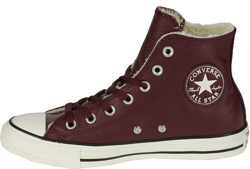 Converse vínové dámské boty Chuck Taylor All Star Leather Marsala ... dd90be3319