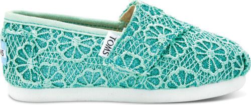 f60f1332755 Toms dětské boty Tiny Classic Mint Crochet Glitter - 18