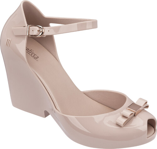 Melissa pudrové boty na klínku Lady Love Light Pink - Glami.cz e93e080056