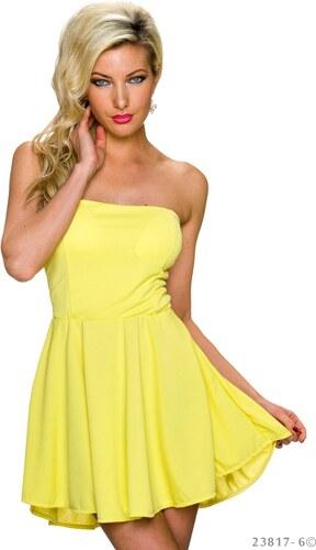 Krátké koktejlové šaty - žluté - Glami.cz b1426ef85a