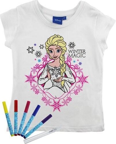 e31a50a3faa ReDraw Dívčí kreativní tričko Frozen - bílé - Glami.cz