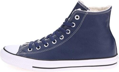 Tmavě modré pánské kožené kotníkové tenisky Converse Chuck Taylor All Star 673b40161c4