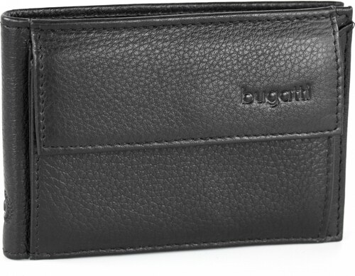 11e4e2729b1 Bugatti Pánská kožená peněženka SEMPRE 49118001 černá - Glami.cz