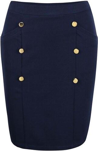 Modrá sukně s knoflíky ve zlaté barvě Vero Moda Sofia - Glami.cz 9b4b99addb