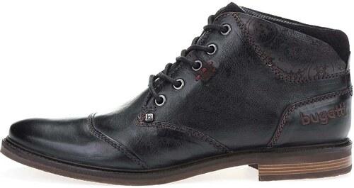 092f61d2d76 Černé pánské kožené kotníkové boty bugatti Vanity Evo - Glami.cz