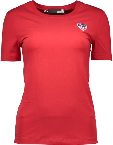 452976274d8f Dámske tričko Love Moschino - 46   Červená - Glami.sk