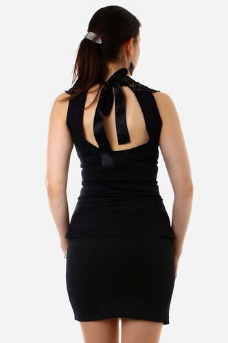 cc8622c1ebf TopMode Bílo-černé pouzdrové šaty se zeštíhlujícím efektem (černá bílá