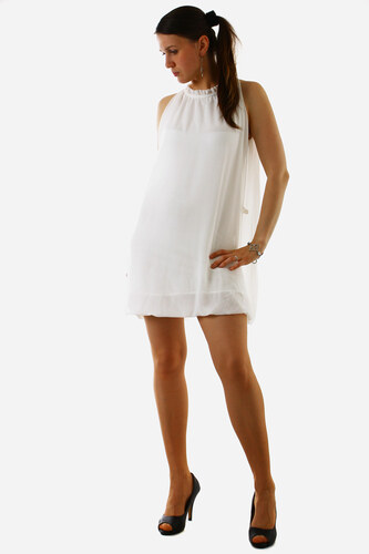 2f1d33a519e L R- Itálie Krátké dámské volné šaty (bílá
