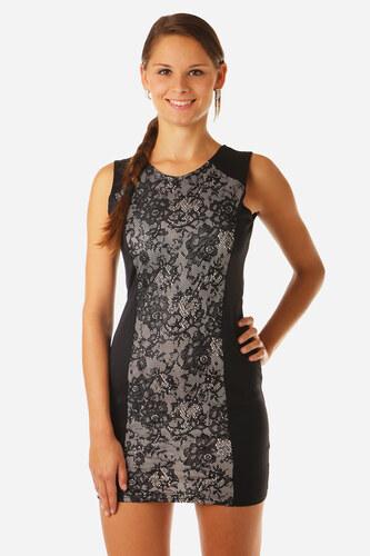 d15ab1dba751 TopMode Dámské elegantní šaty s krajkou (černá bílá