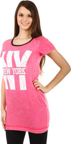 f70a3b7464a8 Glara Bavlnené dámske predĺžené tričko New York - Glami.sk