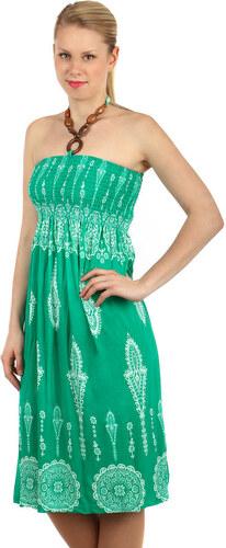 YooY Vzdušné letní šaty s ozdobou (zelená a6712144fa