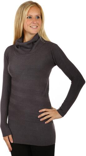 251f046d947 YooY Moderní svetr   šaty s rolákem (tmavě šedá