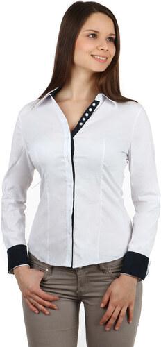 dc672f702b5 YooY Dámská společenská košile - dlouhý rukáv (bílá