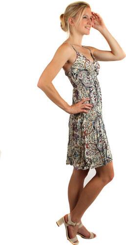 04335fd8c0c2 Glara Letné krátke šaty v etno štýle s úzkymi ramienkami - Glami.sk
