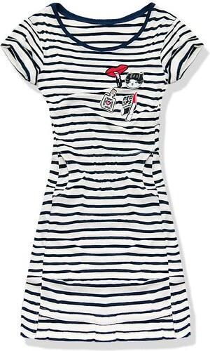 Kleid weiß blau 5218