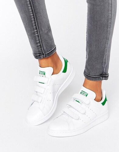 usa adidas originals blanc and vert velcro stan smith e72fc