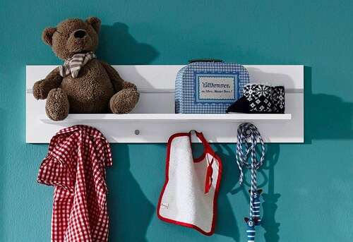 Wandregal / Wandboard passend zur Babymöbel Serie »Classic« in weiß