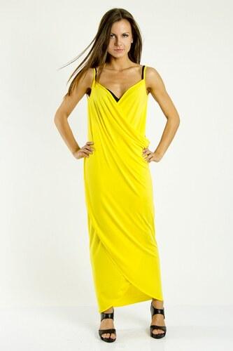 a31b2deda697 Plážové šaty pareo dlouhé barva žlutá S M - Glami.cz