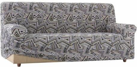 ZEBRA Sofahusse Babel mit grafischem Design grau