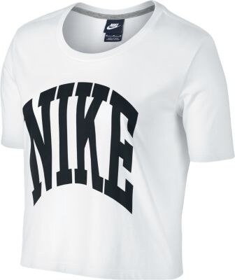 e4d81626e3eb Bílé dámské tričko Nike Prep Top-Cropped 725828-100 - Glami.cz