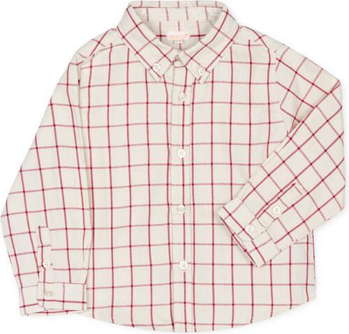 Chemise à carreaux fraise