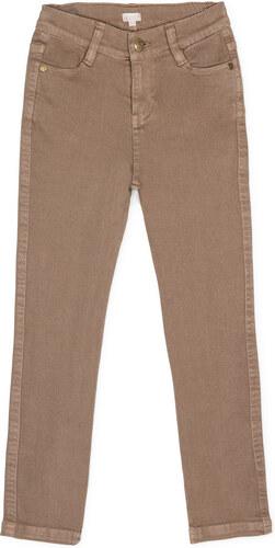 Pantalon cinq poches taupe