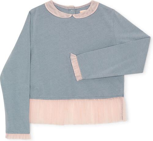 Tee Shirt Manches Longues - Tulle Bleu