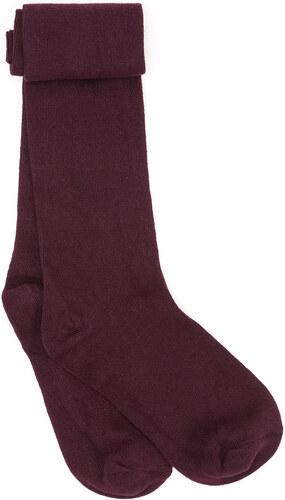 Chaussettes Unies - Aubergine