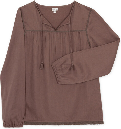 Chemisier Manches Longues - Gris Taupe