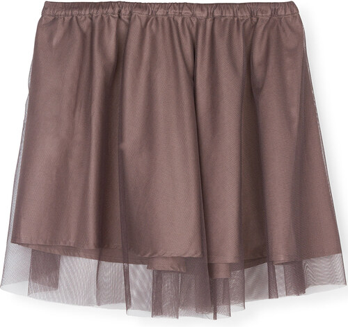 Jupe Double Couche - Gris Taupe