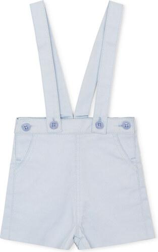 Pantalon Court Bretelles – Bleu Ciel