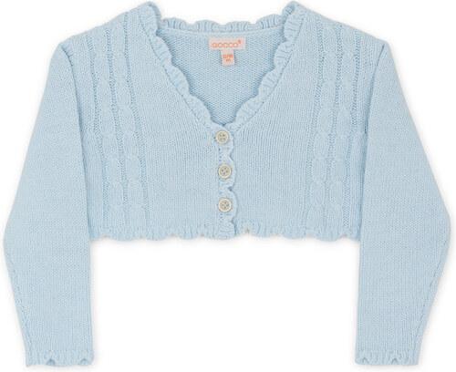 Veste tricot bleu ciel