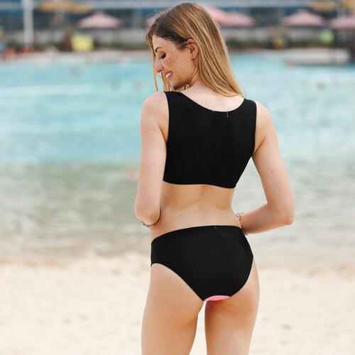 lesara bustier bikini mit rei verschluss pink s. Black Bedroom Furniture Sets. Home Design Ideas