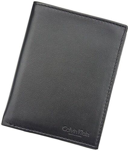Pánská kožená slim peněženka Calvin Klein Deren - černá - Glami.cz 9b14138bef3