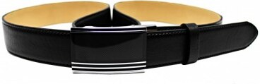 b92ef3ae7 Penny Belts Pánsky kožený opasok s plnou sponou automat 35-020-A5 čierny