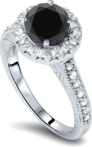 Eppi Zásnubní prsten s černým diamantem Dhani - Glami.cz 432d81e6e9e