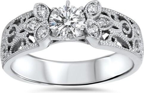 e59888434 Eppi Vintage diamantový zásnubní prsten Katniss - Glami.cz