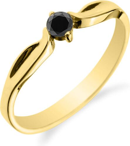 Eppi Zásnubní prsten s černým diamantem Zall - Glami.cz ff5fbba44a0
