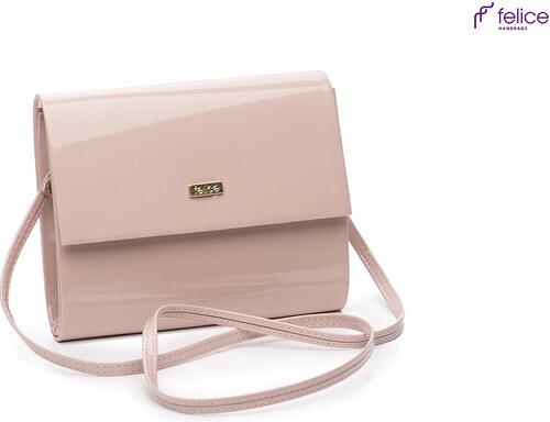 Lakovaná ružová kabelka Felice - F14 odtiene farieb  ružová - Glami.sk 79a82c14450