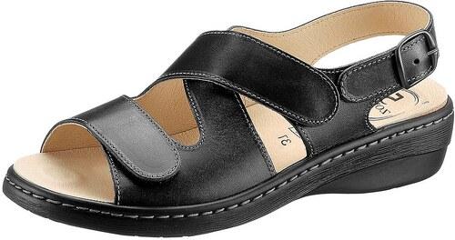 Große Größen: Sandale, schwarz, Gr.37-42