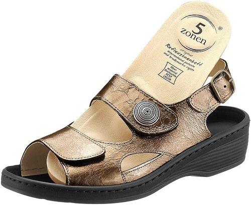 Große Größen: Sandale, bronzefarben, Gr.37-42
