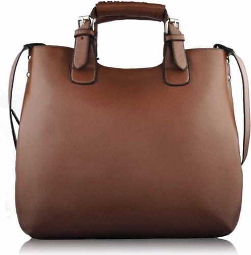 426b4fea6e4c Dámská kabelka Shopper bag   LS Fashion - LS00267 - hnědá barva ...