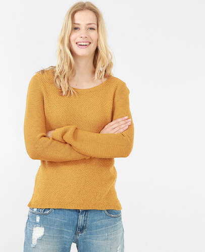 87dff0188a3b Moutarde Couleur Mailles Hiver 20 Multi Femme 2017 Taille S Soldes Pull  Jaune Pimkie 5YIRqx1
