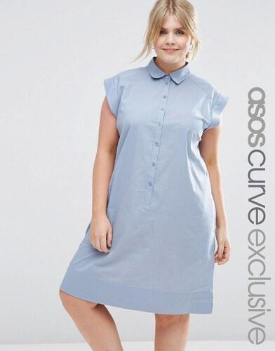 13b0981f6783 HUSH HUSH Svetlo modré košeľové šaty - Glami.sk