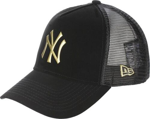 031b177b697 kšiltovka New Era 9FO Nubuck Weld Trucker MLB New York Yankees - Black Gold