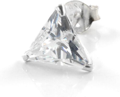 Trendhim Zirkonová náušnice Triangular 8 mm D2-7-3322 - Glami.cz 65f60b408bb