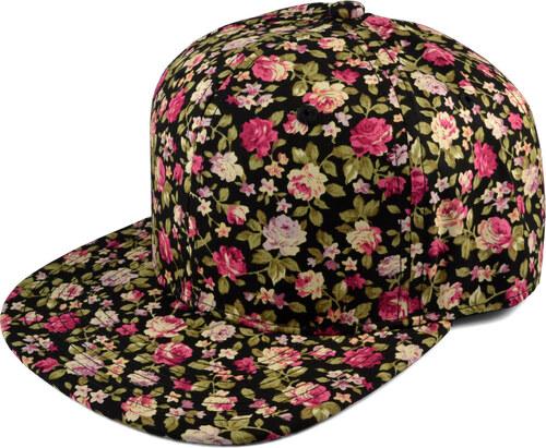 Crown Caps Květovaná Snapback kšiltovka s růžemi AH17-5-4591 - Glami.cz 57c563d7cb