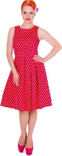 7a5d5b6a716 Červené puntíkaté šaty Dolly and Dotty Lola - Glami.cz