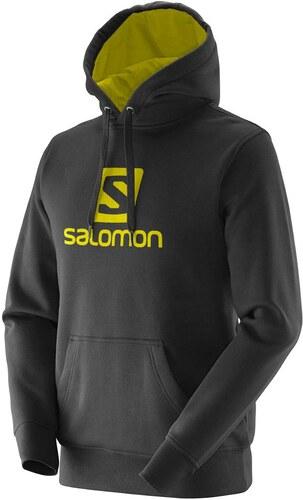 ecfc07d4a3 Mikina Salomon LOGO HOODIE M BLACK ALPHA YELLOW - 380159 L - Glami.cz