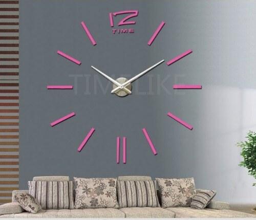 39b55acd5 3D nalepovací hodiny Time růžové - Glami.cz